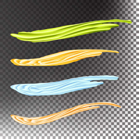 underline: Acrylic Paint Brush Stroke Vector. Underline And border. Acrylic Or Oil Paint Strokes Set. Good For Abstract Banner And Label Design. Transparent Background.