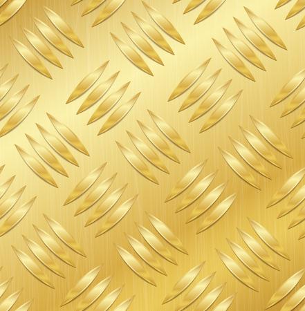 Corrugated Seamless Background. Good For Web Design. Realistic Corrugated Gold Plate Illustration