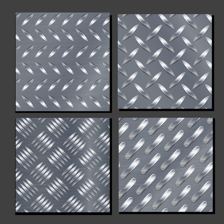diamondplate: Corrugated Seamless Background. Good For Web Design. Realistic Corrugated Steel Plate Illustration.