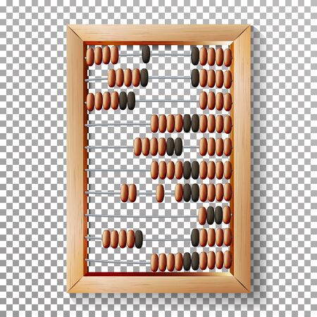 Abacus Set Vector. Realistic Illustration Of Classic Wooden Old Abacus Long Before The Calculator. Arithmetic Equipment. Transparent
