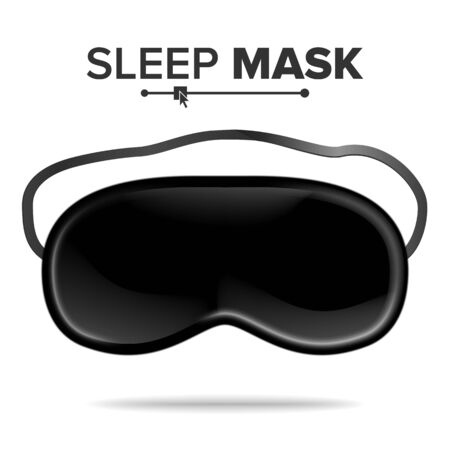 asleep: Sleep Mask Vector. Isolated Illustration Of Sleeping Mask Eyes. Help To Sleep Better