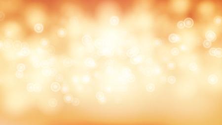 オレンジ甘いボケ アウト フォーカスの背景のベクトル。ゴールドのライトを抽象的なボケ味がぼやけて背景。  イラスト・ベクター素材