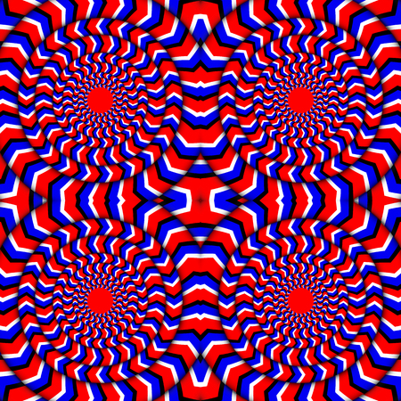Hypnotic Of Rotation. Perpetual Rotation Illusion. Background With Bright Optical Illusions of Rotation. Optical Illusion Spin Cycle. Vector Illustration Stock fotó - 82329620