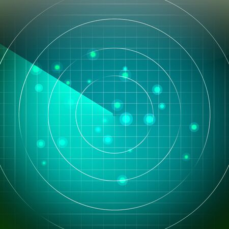 Futuristic Radar. Territory With Smooth Light Beneath.