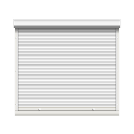 Realistic Window Roller Shutters Vector. Front View. Isolated Illustration