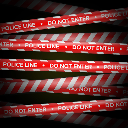 Red And White Vector. Danger Lines. Do Not Cross, Danger, Do Not Enter, Caution. Security Quarantine Tapes.