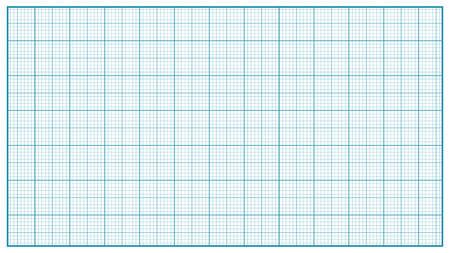 Millimeter Paper Vector. Blue. Graphing Paper For Education, Drawing Projects. Classic Graph Grid Paper Measure Illustration.