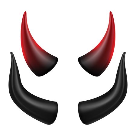 Devils Horns Vector. Good For Halloween Party. Satan Horns Symbol Isolated Illustration.
