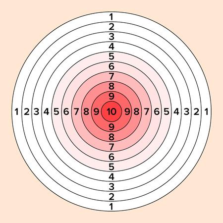 Shooting target illustration Illustration
