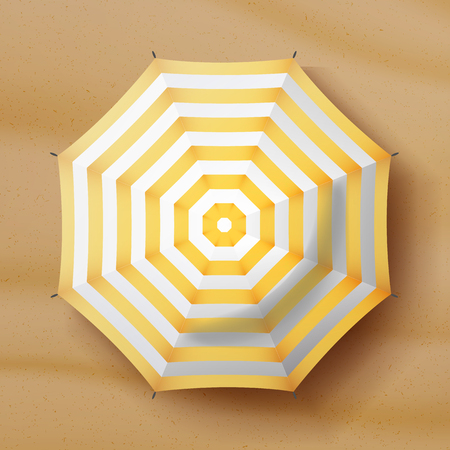 motton blue: Umbrella Top View Vector. Parasol Top View. Holiday Illustration.