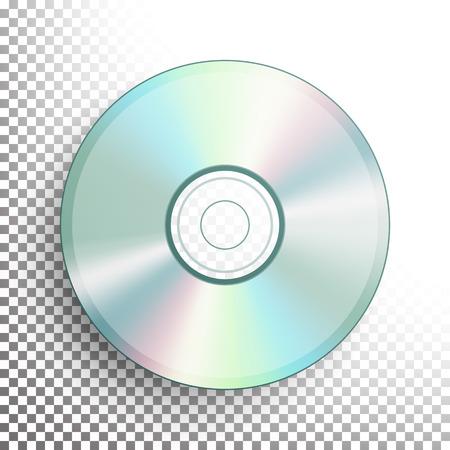 DVD 디스크 벡터입니다. 현실적인 콤팩트 CD 디스크 모의에 투명 한 배경. 음악 플라스틱 소리 데이터입니다. 비디오 블루 레이, 정보 매체 일러스트레이 일러스트