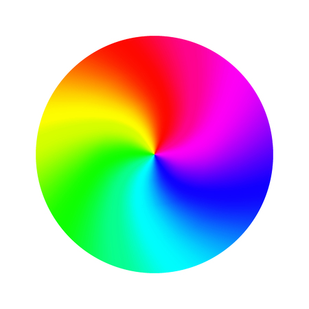 Color Wheel Vector. Abstract Colorful Rainbow Circle. Isolated Illustration