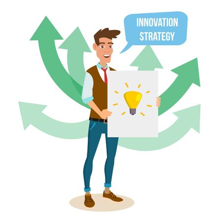schemes: Crowdfunding, Start Up Vector. Crowd Funding Process Concept. Innovative Start Up Monetization Project Idea. Isolated On White Cartoon Business Character Illustration