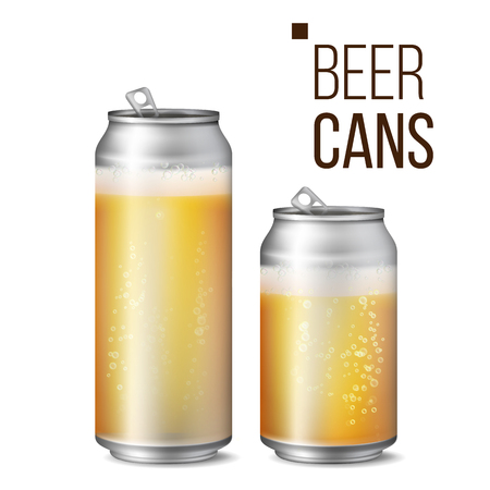 Beer cans. Ilustração