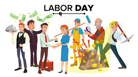 International Labor Day Vector. People Group Different Occupation Set. Isolated Cartoon Character Illustration