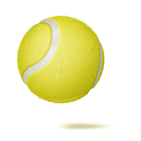 3D Tennis Ball Vector. Classic Yellow Ball. Illustration Illustration