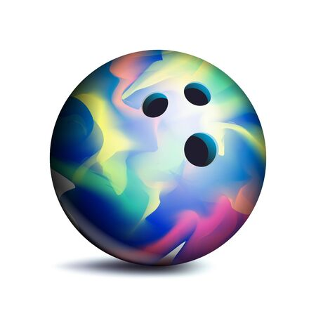 Bowling Ball Vector. Sport Game Symbol. Illustration