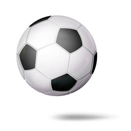 Realistic Football Ball Vector. Classic Soccer Round Ball. Sport Game Symbol. Illustration Illustration