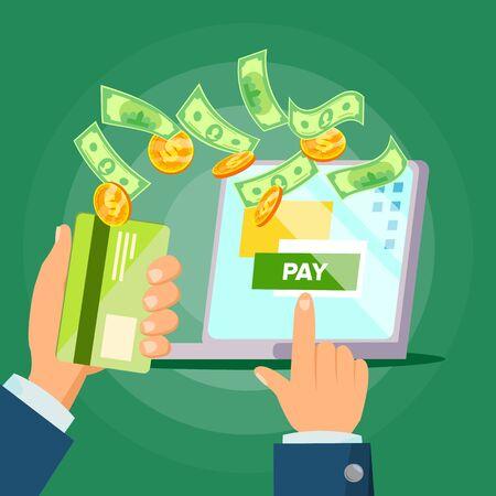 Online payment illustration.