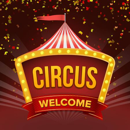 Circus Sign Vector Flat Illustration