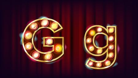 Letter G vintage icon.
