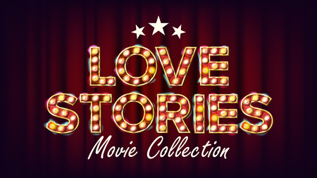 Love stories movie collection poster. Illustration