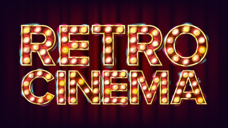 Retro cinema sign.