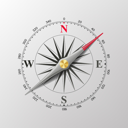 Compass Wind Rose Vector. Isolated Illustration