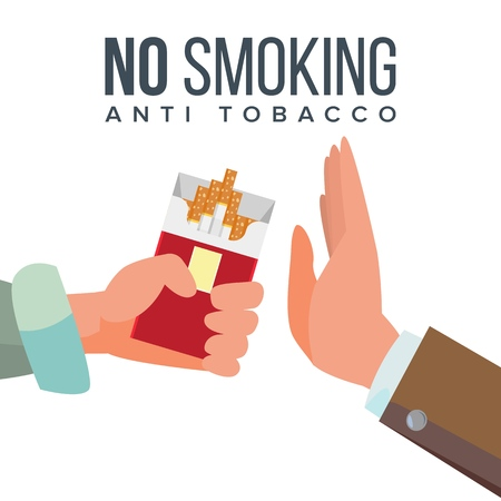 No Smoking Concept vector illustration