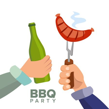 Barbecue Party Concept vector illustration