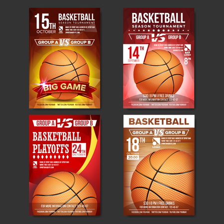 Basketball Poster Vector. Design For Sport Bar Promotion. Basketball Ball. Modern Tournament. Game Illustration