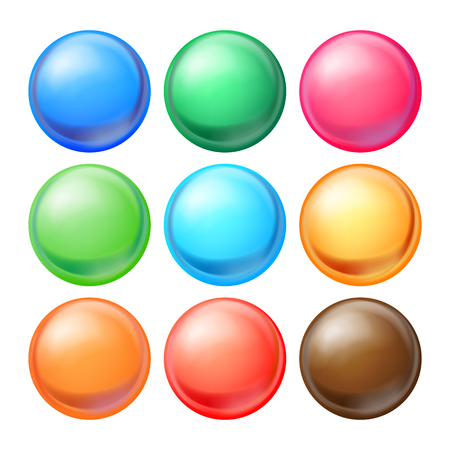 Colorful Round Spheres Set