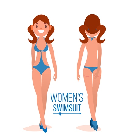 Womens Swimsuit Vector illustration