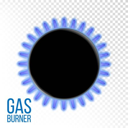 Gas Burner Vector. Kitchen oven. Isolated On Transparent Background Realistic Illustration Illustration