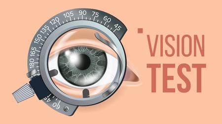 Eye Test Banner Vector. Medical Background Illustration Illustration
