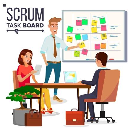 los hombres de negocios que discuten estrategia de negocios en la tabla de tareas de teletrabajo