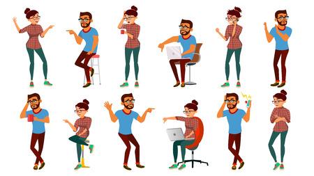 Negativity Expressing People Set Vector. Cartoon Illustration Illustration