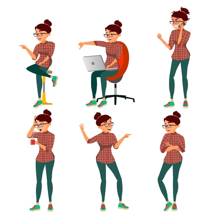 Negativity Expressing Vector. Female Character. Cartoon Isolated Illustration