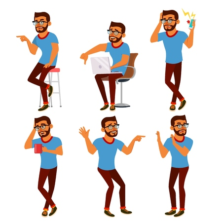 Negativity Expressing Vector. Male Character. Cartoon Isolated Illustration