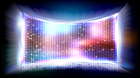 Screen LED Vector. Light Board. Cinema Panel Illustration Ilustrace