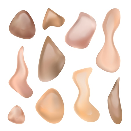 Liquid Foundation Vector. Skin Cream. Skin Care Product. Foundation Tints. Realistic Isolated Illustration