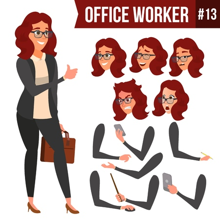 Women office Worker icon. Illustration
