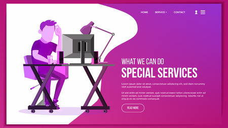 Website Page Vector. Business Website. Site Scheme Template. Cartoon People. Creativity Goal. Illustration