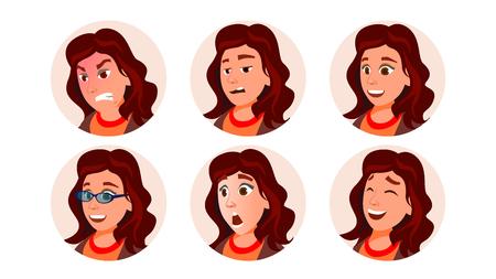 Business Avatar Woman Vector. Human Emotions. Stylish Image. Flat Character Illustration Illustration