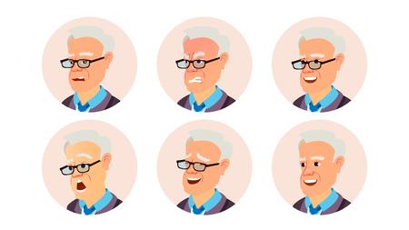 Avatar Man Vector. User Portrait. Office Worker. Isolated Flat Cartoon Illustration