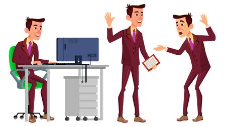 Office Worker vector illustration set