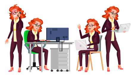 Office Worker Vector. Flat Character Illustration