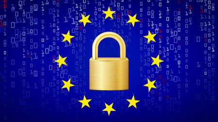 GDPR Background Vector. Padlock. Security Technology. General Data Protection Regulation. Illustration
