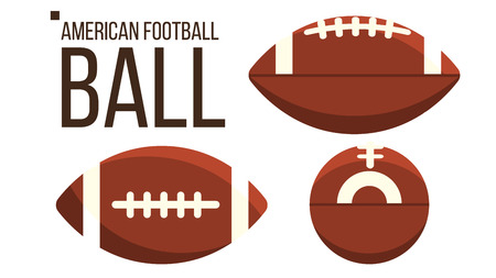 American Football Ball icons  イラスト・ベクター素材