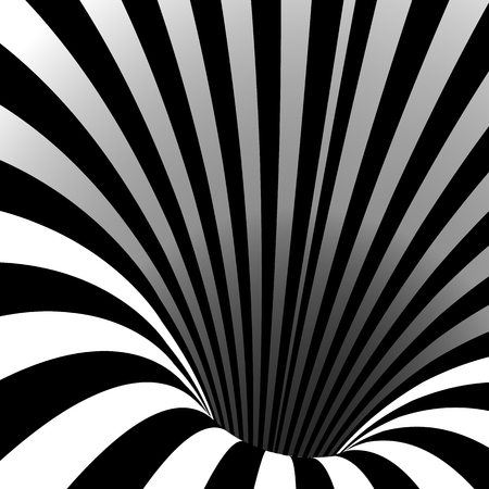 Spiral Vortex Vector. Illusion Swirl. Tunnel Hole Effect. Movement Executed In The Form. Psychedelic Effect. Geometric Background Illustration Illustration